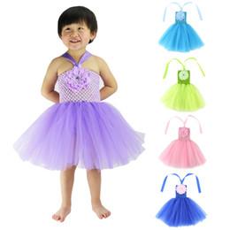 Wholesale Toddler Dance Tutu Dress - Baby Kids Clothing 2017 Flower girls dresses children princess costume party dress toddler clothes dance costume ballet performance #081
