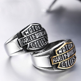 Wholesale Bikers Rings - 2017 MOTOCYLE biker stainless steel ring hight quality cheap factory jewelry for free shipping