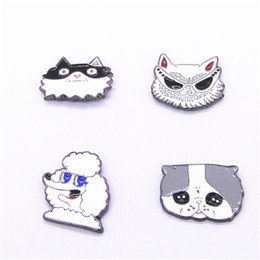 Wholesale Gold Home Accessories - Wholesale- Japanese accessories wholesale Home have a dog Wang Xing people IQFunny Dog bossy dog brooch brooch