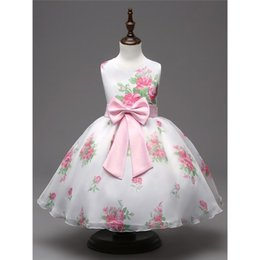 Wholesale Doll American Girls - 2017 new hot sale doll collar and floral print girl dress designer boutique dresses discount kids clothes