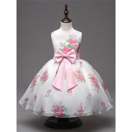 Wholesale Designer Kids Summer Clothing - 2017 new hot sale doll collar and floral print girl dress designer boutique dresses discount kids clothes
