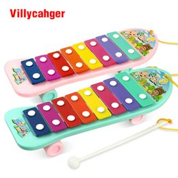 Wholesale Wisdom Smart - Colorful Hand Knock Piano 8-Note Wisdom Smart Clever Development Musical Toys for Baby Kid Children Free Shipping