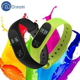 Wholesale Band Steps - Wholesale- Dreami Original Xiaomi Mi Band 2 Smartband OLED Display Screen Heart Rate Monitor Sleep Step Tracker Call Message Reminder