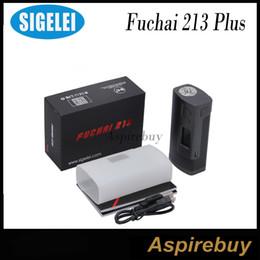 Wholesale Construction Aluminum - Sigelei Fuchai 213 Plus Mod 213W TC Box Mod Aluminum Alloy Construction Features TCR TFR Modes Requires 2 18650 Batteries 100% Original