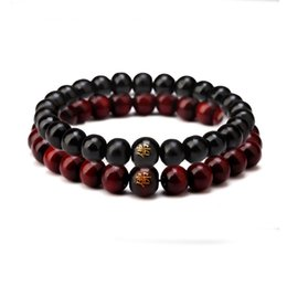 Wholesale Wooden Prayer Beads Bracelet - 8MM Prayer Wooden Bead Bracelet New Men Wood Beads Bracelets Sandalwood Meditation Jewelry NE646