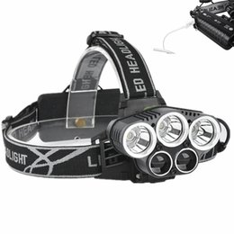 Wholesale Cree Q5 Led Headlamp - LED Headlamp 5 CREE XM-L T6 Q5 Headlight 15000 lumens LED USB Headlamp Camp Hike Emergency Light Fishing Outdoor
