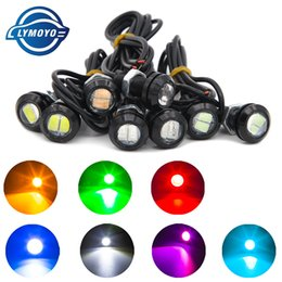 Wholesale Led Daytime Running Lamps - auto Eagle Eye DRL LED Lamp 18MM 2W 5630 Daytime Running Light Waterproof car Taillights light LED Fog bulb Car work Light