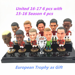 Wholesale Cartoon Mini Fan - Kodoto Soccerwe United 2016-17 Season Football Star Pogba Ibrahimovic De gea Doll Premier League Fans Collections Red Color 2.55 Inches