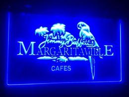 Signos margaritaville online-b-246 Jimmy Buffett Margaritaville 2 cervecerías tamaño pub bar club letreros 3d LED Signo de luz de neón