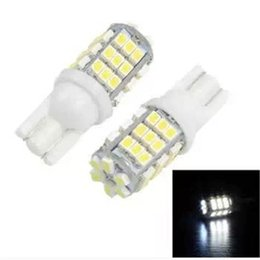 Wholesale Long Led Lights - Led Bulbs 42-SMD T10 12V LED Replacement Light Bulbs+STICKER 921 912 906 White Durable LED SMD Bulbs Ultra Bright Easy Use Long Life