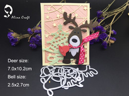 Wholesale Reindeer Decor - METAL CUTTING DIES reindeer Christmas bell shape dies DIY collage Scrapbook card album paper craft party decor stencils cuts