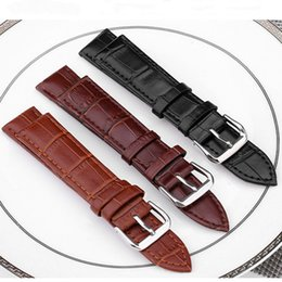 Wholesale Brown Leather Strap 24mm - Genuine Real Leather Luxury Watchband Watchstraps 22mm 24mm Wristwatch Band Sports Watch Straps