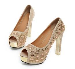 2017 лето ультра-высокой с толщиной с рыбой рот сандалии Алмаз красный женское свадьба обувь золото невесты обувь для женской обуви от