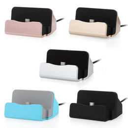 Wholesale Docking Station Note - Quick Charger Docking Stand Station Chargers Cradle Charging Sync Dock Type C For Samsung Galaxy S8 Note8 Note 5 With Retail Package