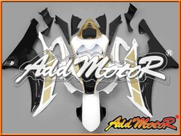 Wholesale Yzf R6 Fairings Black Gold - In Stock Addmotor Injection Mold Fairing For Yamaha YZF-R6 YZF R6 2008 2009 2010 2011 08 09 10 11 Gold White Black Y6836 +5 Free Gifts