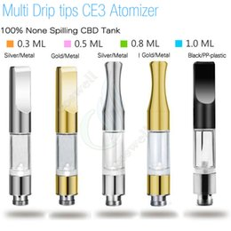 Wholesale Wholesale Dripping Atomizers - New CE3 BUD Touch 510 Cartridges Metal plastic drip tips WAX Thick Oil Vaporizer Atomizers O Pen vapor Mini cartomizers e cigs vape Tank DHL