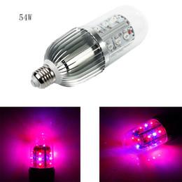 Wholesale 18x3w Led - High Power 54W E27 LED Corn Grow Light 18X3W Red Blue LED Plant Grow Lamp Flower