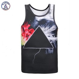 Wholesale Galaxy Cotton Tank Tops - Mr.1991INC New Fashion Men women top Tanks 3d Print Triangle Space galaxy vest summer tops tees