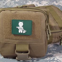 TAD Bear Patch 3D Rubber Pvc Hook Y Loop Táctico Parche de Combate Brazalete Insignia Del Ejército 10 unids Para JacketS Caps Bolsas desde fabricantes
