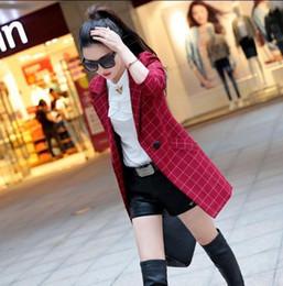 Wholesale Plaid Suit Jacket Women - Pinky Is BlackFemale blazer 2017 spring and autumn new blazer women jacket slim medium-long plaid long-sleeve casual suit blazer