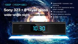 Wholesale Home Digital Video Recorder - HD Wifi Clock IP Camera 1080p Night vision Clock Hidden Spy Camera Digital Clock Motion Activated Video Recorder home Security Network cam