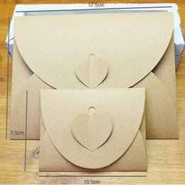 Wholesale Wholesale Mini Kraft Paper Bags - Wholesale- DHL Free Shipping,Wholesale 300pcs lot Handmade Brown Paper Bag Mini Envelope Heart Kraft Vintage Envelopes Retro Stationery