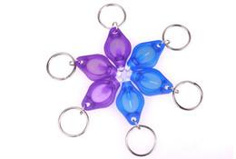 Wholesale Cartoon Flashlight - 395-410nm Purple UV LED Keychain Money Detector led light protable light Keychains Car key accessories Wholesale 2016 HOT search