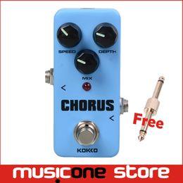 Wholesale chorus flanger pedal - KOKKO FCH2 Mini Chorus Effect Pedal Portable Guitar Effect Pedal With Gold connector