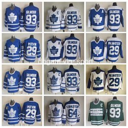 Wholesale Doug Gilmour - Throwback 29 Mike Palmateer Jersey Men 93 Doug Gilmour 64 Stanleycup 29 Felix Potvin Vintage Toronto Maple Leafs Hockey Jerseys Blue White