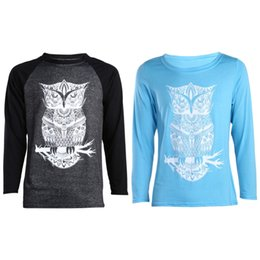 Wholesale Women T Shirt Owl Xl - Valentine T Shirt Men Women Matching Couple Clothes Lovers Long Sleeve Slim Cotton Tshirt Owl Couple T Shirts DM#6