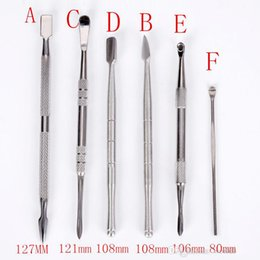 Wholesale Stainless E Cigarette - Stainless Steel Wax Dabber Tools For Dry Herb Wax Atomizer Vaporizer Ego E Cigarette Snoop Dogg Kit