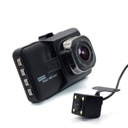 Wholesale Full Backup - 2016 New Dual Lens Car DVR Cam Dashcam 1080P Full HD Video Registrator Recorder With Backup Rearview Camera G-Sensor WDR