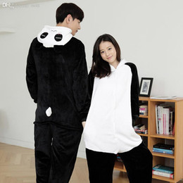 Wholesale Cute Panda Cosplay - Wholesale-Unisex Adults Cute Fluffy Kung Fu Panda Cosplay Costume Jumpsuit Pajama sets Animal Onesies Costume Pyjamas for women men