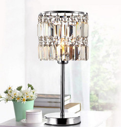 Wholesale Luxurious Lamp - Luxurious High Quality K9 Crystal Table Lamp Bedside Lamps Crystal Home Decoration Lustres De Cristal AC90-260V LLFA