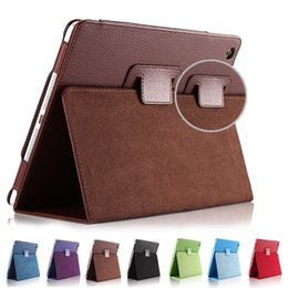 Wholesale Brown Ipad Cases - For Ipad Mini 1 2 3 Matte Litchi Soft PU Artificial Leather Case Magnetic Sleep  Wake UP Flip Cover case Retina