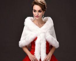Wholesale White Capes For Sale - Free Shipping Winter Wedding Wraps Bridal Jackets Fax Fur Cape For Wedding Elegant Hot Sales Bridal Coat Chaqueta Novia Veste Mariage
