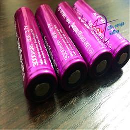 Wholesale Aa Boxes - Hot selling 2PCS Electronic Cigarettes Rechargable 18650 Battery Liter energy battery 3000Mah 40A Battery AA For E-Cigarettes BOX MOD VAPE