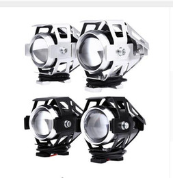 Wholesale 12v Led Motorcycle Spotlights - 2pcs U5 LED Motorcycle Headlight 125W 12V 3000LM Transform Spotlight Water Resistant Aluminum Alloy High Quality Car LED Lights