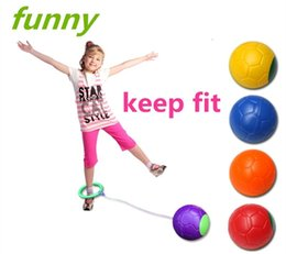 Wholesale Plastic Skipping Rope Jumping - Funny Children Exercise One Foot Skip Ball Plastic Jump Ball Foot Hula Hoop Skipping Rope Ball Toy Outdoor Toys Kids Gift