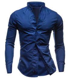 Wholesale Wholesale Fitted V Neck Shirts - Wholesale- Generic Mens Long Sleeve Button Front Shirts Clearance Slim Fit Tee