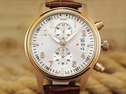 Wholesale Jaragar Gold Watch - hot selling men leather watch golden number quartz dive mens date automatic watches luxury sport jaragar swiss men pilot waches montre homme