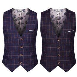 Wholesale Korean Casual Suits For Men - Wholesale- Korean Style Male Sleeveless Suit Jacket Men Formal Waistcoat Slim Casual Plain Dress Vests For Men