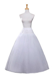 Wholesale Tulle Slips - bridal petticoat Cheap crinoline wed wedding hoopless Long a line Tulle 4 Layers Slip Floor Length underskirt For Bridal Gown Plus size