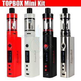 Wholesale mods e cigs - 100%Quality Kangertech Topbox Mini TC StarterKit KBOX Mini 75W Box Mod Top Filling Toptank Atomizers nano kanger subox vapors e cigs DHL