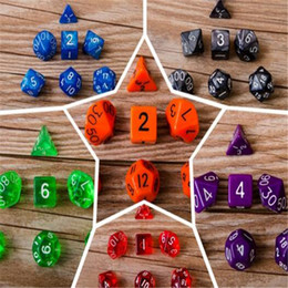 Wholesale Dice Funny - Funny Game Arylic Multi Sides Dice Pop for Game Kids Gift Sets Party Toy Polyhedral TRPG Games for Dungeons Dragons Opaque D4-D20 DHL