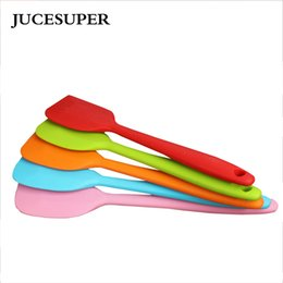 rubber knife wholesale Coupons - Wholesale- High Quality Silicone Cream Spatula Baking Oil Brush Mixing Shovel Butter Knife Flour Scrapers Soap Tools Kitchen Accessories
