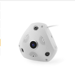 Wholesale Lens Panoramic - J450W 5MP Panoramic Fisheye Lens Camera WIFI Wireless Home Security Camera Night Vision Support Android iPhone AT