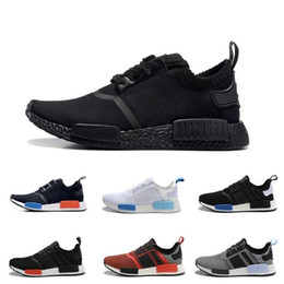 Wholesale Golf Tennis - 2017 Cheap Wholesale Hot NMD R1 Primeknit PK Perfect Authentic Running Sneakers Fashion Running Shoes NMD Runner Primeknit Sneakers With BOX