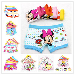 Wholesale Girl Boxers - Cotton 3-11 years baby girls panties Cartoon Kids underwear pants Children's briefs Girls Cute boxer shorts