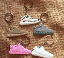 Wholesale Silicone Led Ring - 350 Sports Shoes Key Ring Creative Key Accessories Hanging Pieces Soft Rubber Key Ring